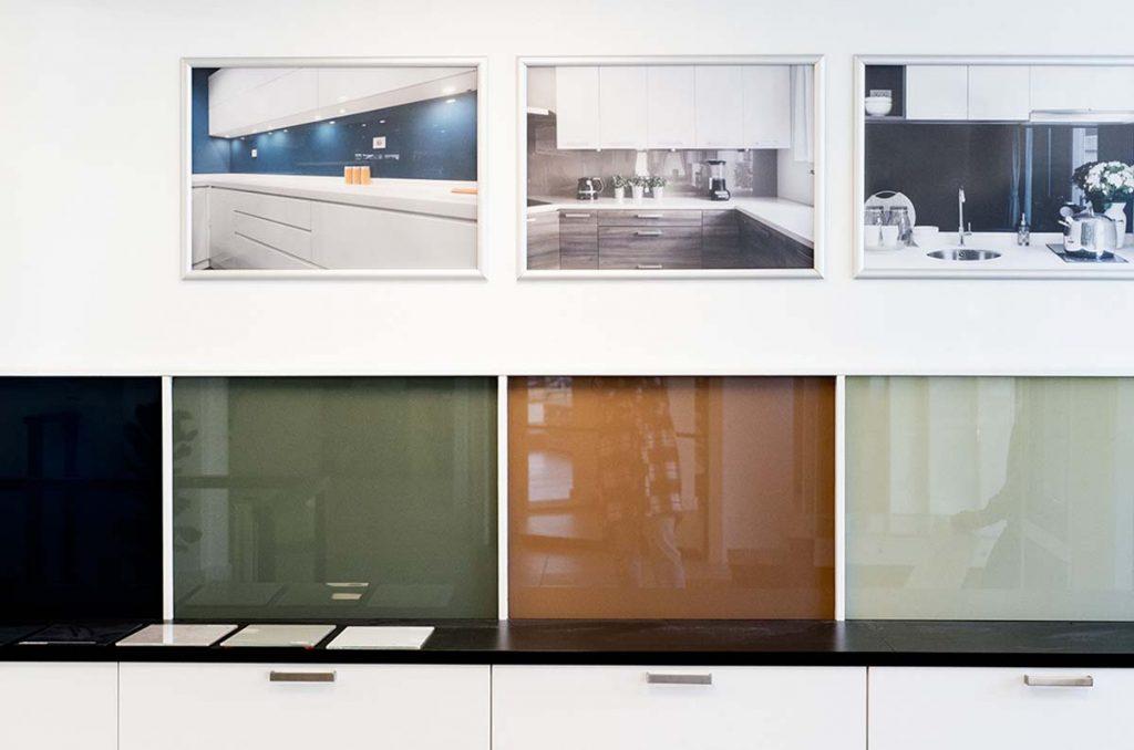 Glassplate til kjøkken utstilt hos Glassmester1 Bærum og Asker