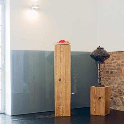 Vegg i plexiglass som dekorativt element