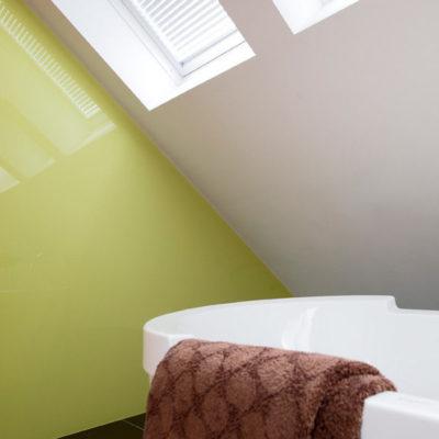 Plexiglass vegger på bad
