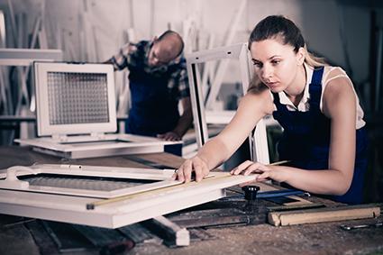 Glassmester - montering av fagfolk