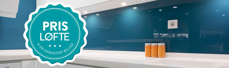 Prisløfte glassplate kjøkken - Glassmester1