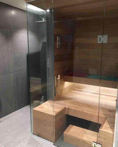 Glassvegger til badstue