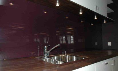Glassplate kjøkken burgunder