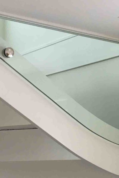 Glassplate til trapp