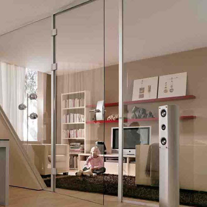 Glassdører og glassvegger