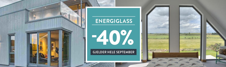 Kampanje: 40% rabatt på energiglass