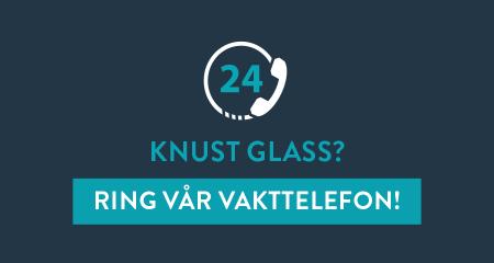 Vakttelefon ved behov for sikring av knust glass