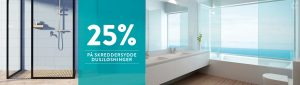 25% på dusjløsninger januarkampanje
