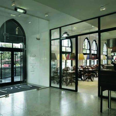 Glassvegger til restaurant