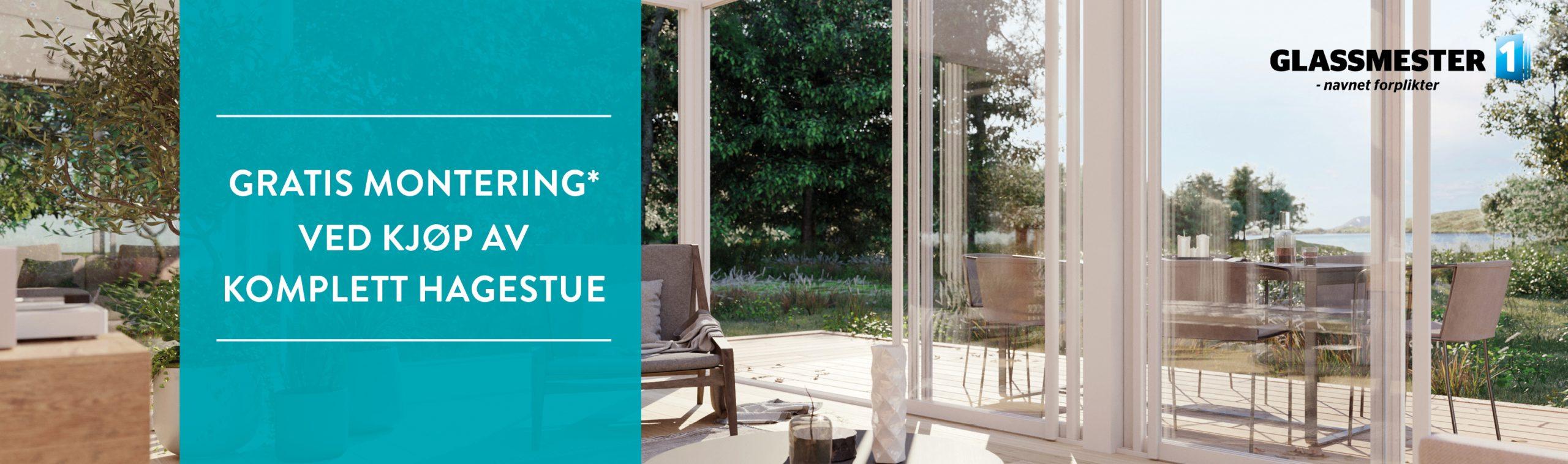 gratis montering ved kjøp av komplett hagestue hos Glassmester1 Kongsberg