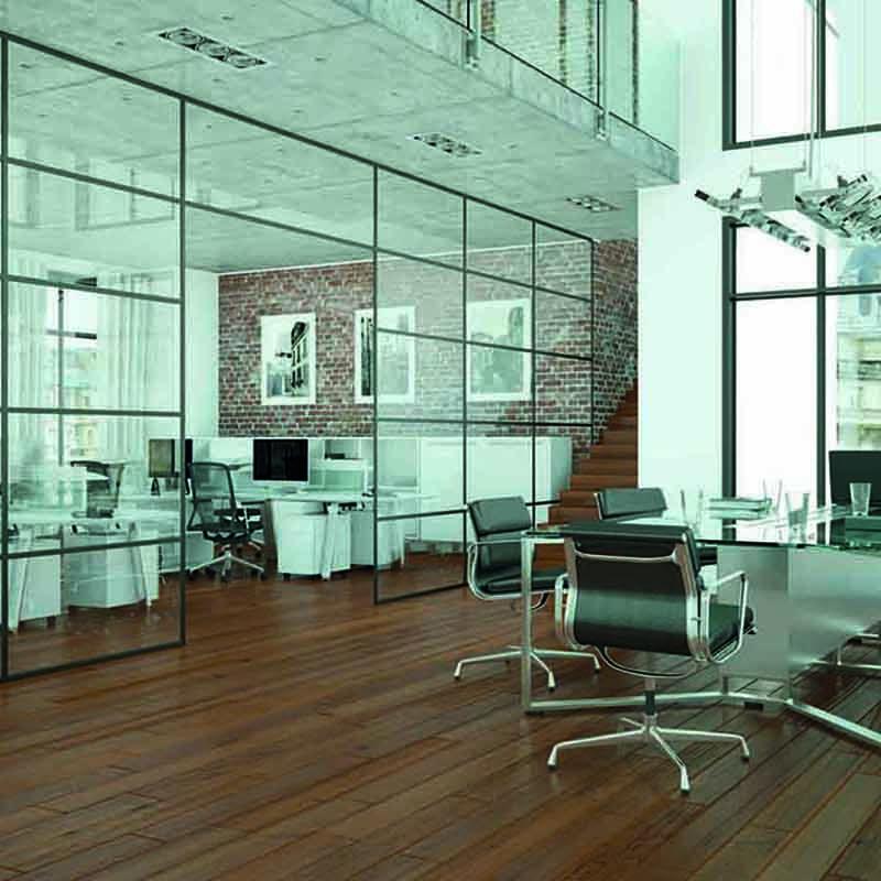 Kontorvegger i glass | Glassmester1