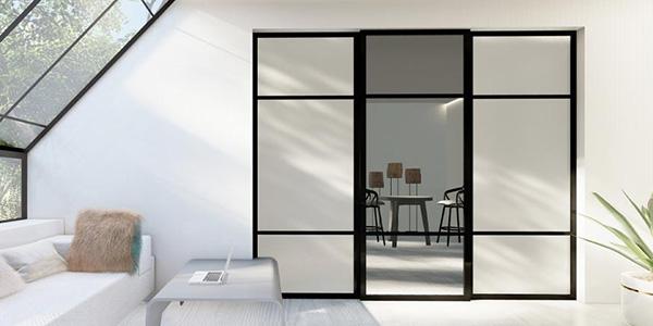 skyvedører med glass og speil