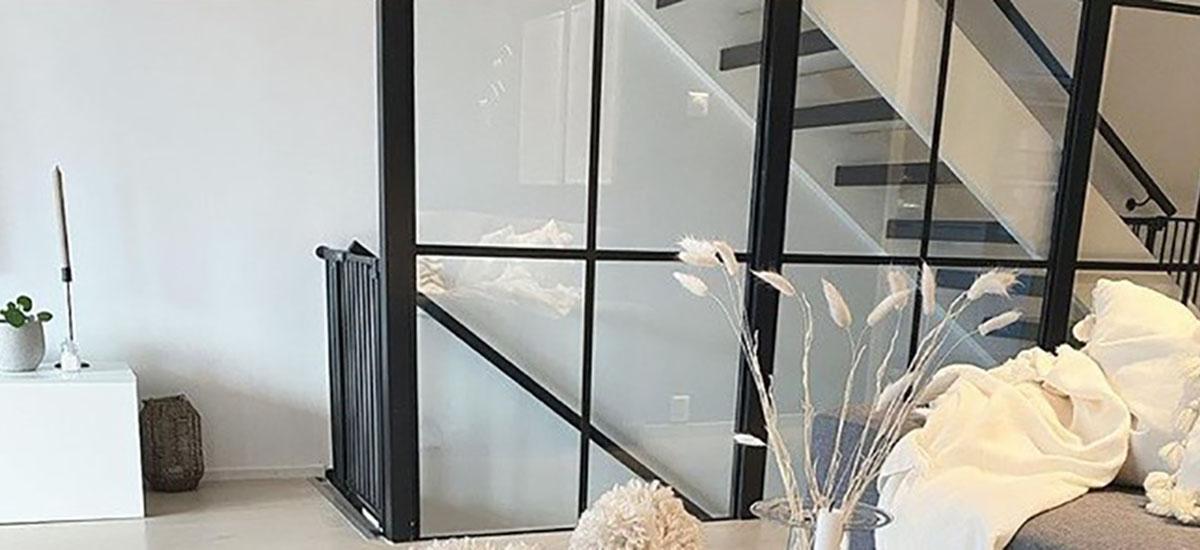Glassvegg i New York loft-stil