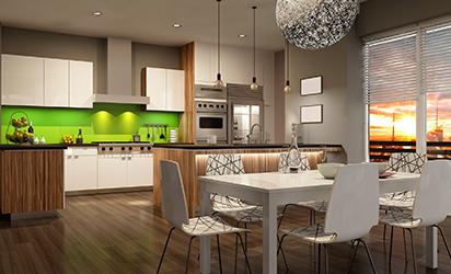 Modern house interior. 3d rendering.