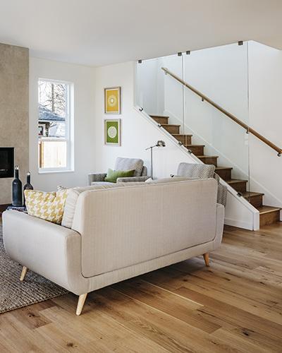 Mid-century designed living room